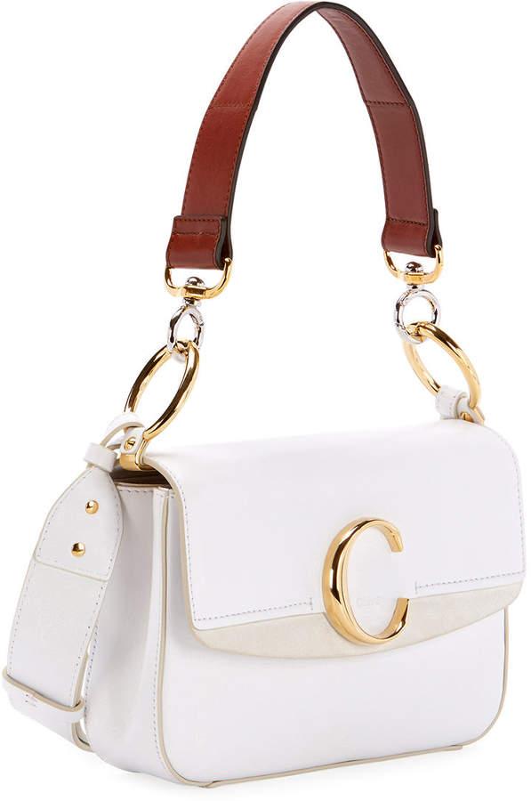 cc5414a2 C Small Shiny Calf Leather Shoulder Bag