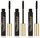 L'Oreal Cosmetics Voluminous Original Mascara, Carbon Black, 3 Count