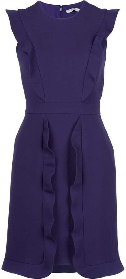 Fendi sleeveless frill trim dress