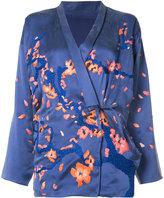 MHI blossom kimono - women - Silk - 8