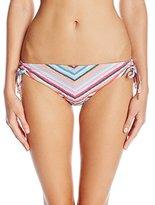 Juicy Couture Women's Beachside Stripe Tunnel Bikini Bottom