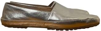 Maison Margiela Silver Leather Espadrilles