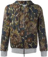 Etro floral print zipped hoodie - men - Cotton/Polyamide - S