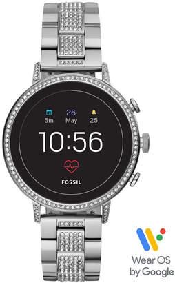 Fossil Women Tech Venture Gen 4 Hr Stainless Steel Bracelet Touchscreen Smart Watch 40mm, Powered by Wear Os by Google