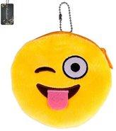 Donalworld Women Lovely Mini Emoji Purse Plush Wallet Soft Zipper Coin Bag Case