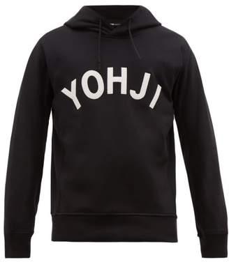 Y-3 Y 3 Yohji Baseball Style Cotton Hooded Sweatshirt - Mens - Black White