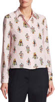Prada Women's Graphic Accented Blouse