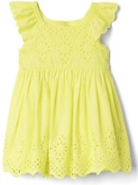 Gap Eyelet flutter dress