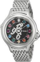 Fendi Women's F105031000D1T05 Crazy Carats Analog Display Swiss Quartz Silver Watch