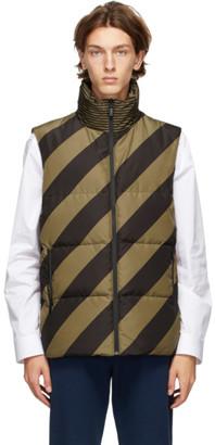 Fendi Reversible Tan and Black Down Forever Puffer Vest