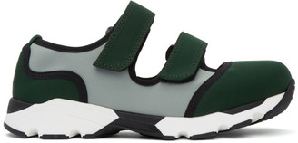 Marni Green and Blue Strappy Sneakers
