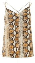 Dorothy Perkins Womens Multi Colour Snake Print Camisole Top, Multi Colour