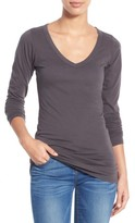 LAmade Women's Long V-Neck Cotton Tee