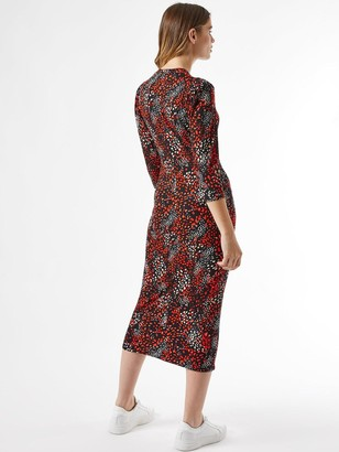 Dorothy Perkins Abstract Print Bodycon Dress - Black/Red