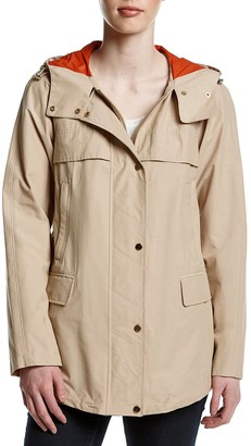 Jones New York Women's Cotton Bonded Water Repellent Jacket