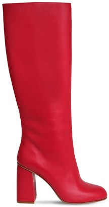 RED Valentino 90mm Leather Tall Boots