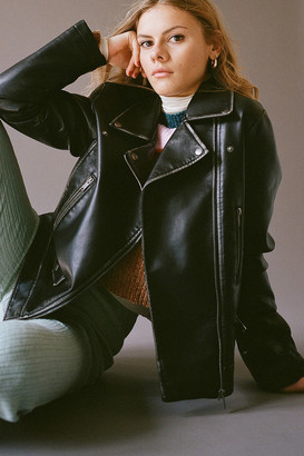 Urban Outfitters Stevie Faux Leather Moto Jacket