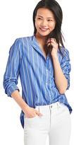 New fitted boyfriend stripe shirt
