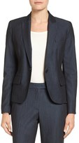 Anne Klein Women's Twill One-Button Jacket