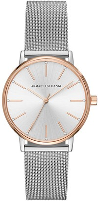 Ax Armani Exchange Armani Exchange Ladies Lola Stainless Steel Watch Color: Silver (Model: AX5537)