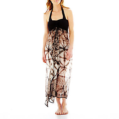 Raviya Strapless Tie-Dyed Cover-Up Maxi Dress