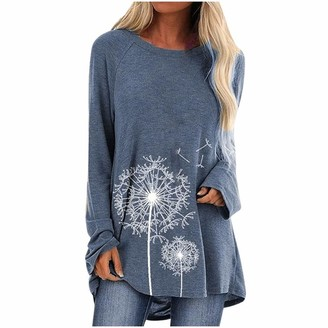 Writtian Baby Writtian Women Floral Casual Shirts Solid O-Neck Pullover Jumper