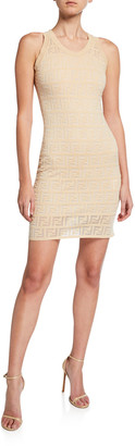 Fendi Sleeveless Logo Knit Dress