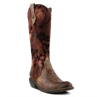 Spring Step L'Artiste Leather Western-Style Tall Shaft Boots - Laretilyn