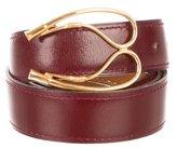 Hermes Maroon Leather Belt