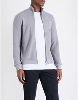 Armani Jeans Honeycomb Knit Stretch-cotton Jacket