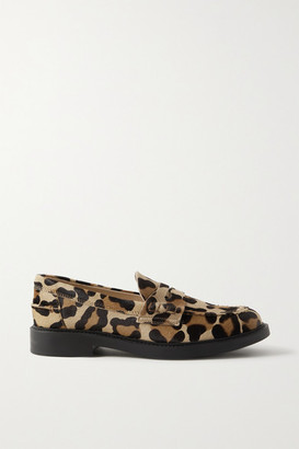 Tod's Leopard-print Calf Hair Loafers - Leopard print