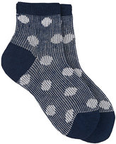 Maria La Rosa Women's Polka Dot Linen-Blend Ankle Socks