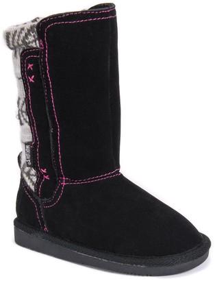 Muk Luks Girls Stacy Boots-Black Fashion 12