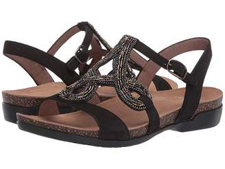 Dansko Reeta (Black Milled Nubuck) Women's Sandals