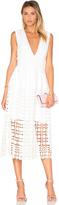 Nicholas Mosaic Deep V Lace Dress
