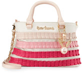 Betsey Johnson Pleats And Thank You Satchel Bag