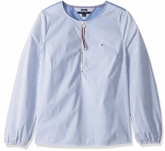 Tommy Hilfiger Women's Adaptive Striped Tunic with Extended Zipper Pull