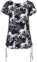 Wallis Palm Print Drawstring Blouse