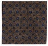 Black Brown 1826 Floral Dot Pocket Square