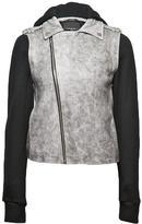 Denim Leather Combo Jacket