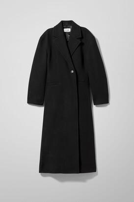 Weekday Sanne Wool Blend Coat - Black