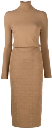 Elisabetta Franchi Fitted Knit Dress