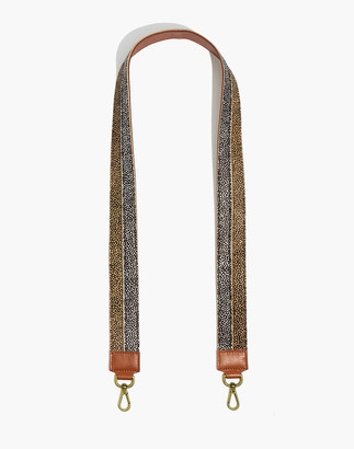Madewell The Crossbody Bag Strap: Colorblock Calf Hair Edition