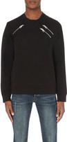 Just Cavalli Zip-detail cotton-jersey sweatshirt