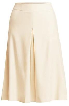 Agnona Wool Tailored Pleated Skirt