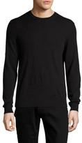Burberry Richmond Cashmere Plaid Check Elbow Crewneck Sweater