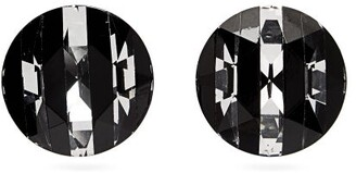 Saint Laurent Round-cut Crystal Clip Earrings - Black