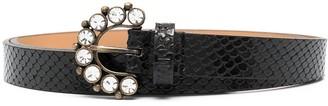 Twin-Set Crystal-Embellished Skinny Belt