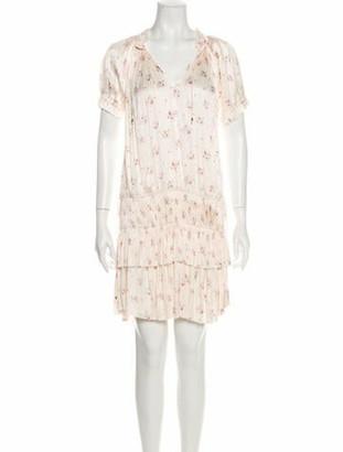Ulla Johnson Floral Print Knee-Length Dress