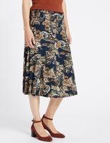 Marks and Spencer Paisley Print A-Line Skirt